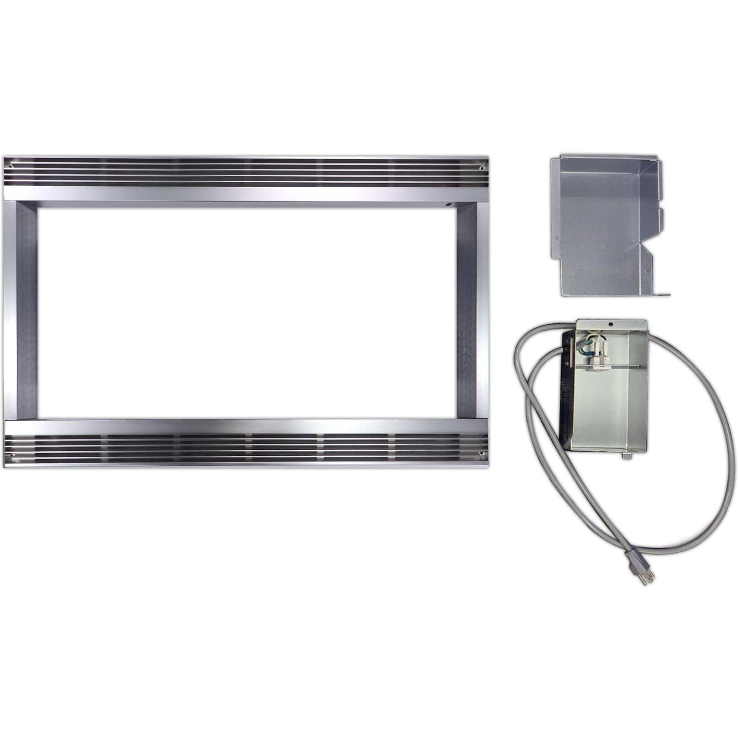 Stainless Steel (Silver) 27-inch Built-in Trim Kit for Sh...