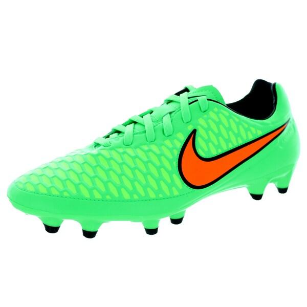 Shop Nike Men's Magista Orden FG - Green/Orange/Black Synthetic Soccer Cleat - FG - 12115064 0eeb09