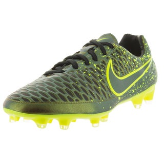 Nike Men's Magista Orden FG Green Leather, Synthetic Soccer Cleats