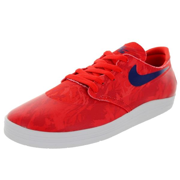 Nike Men's Lunar Oneshot SB Skating Shoe-Lt Crimson/Deep Royal