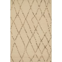 Handcrafted Lennon White Sand Wool Rug - 7'9 x 9'9