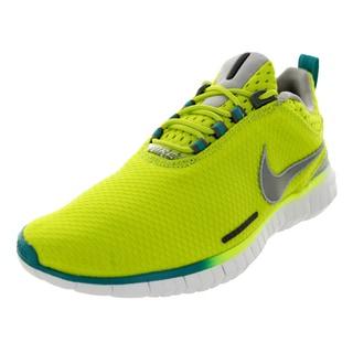 Nike Men's Free OG '14 Bright Venom Green/Metallic Silver/White Mesh Running Shoe