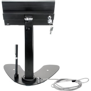 CTA Digital PAD-ASKMB Dual Security Kiosk Stand with Locking Case and Cable for iPad mini 1st?4th Generation (Black)