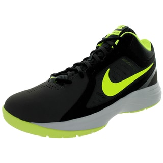 Nike Men's The Overplay VIII NBK Anthracite/Volt/Black/Grey Nubuck Basketball Shoe