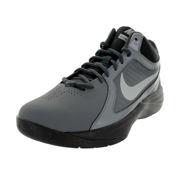 09ea61b5c17122 Shop Nike Men s The Overplay VIII NBK Grey Mesh Basketball Shoe ...
