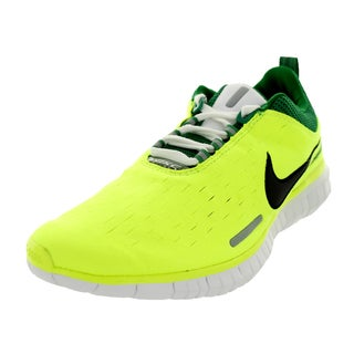 Nike Men's Free Og '14 Volt Black, Pine Green and White Synthetic and Leather Running Shoe