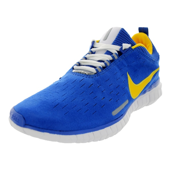 5ac205d8be9813 Shop Nike Men s Free OG Superior Blue Suede Running Shoes - Free ...