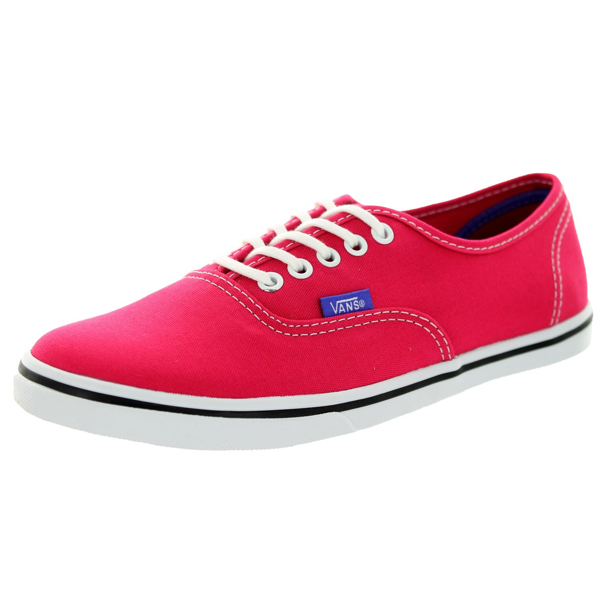 Vans Unisex Authentic Lo Pro Red Canvas Walking Shoes (7....