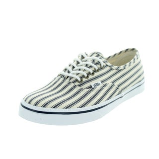 Vans Unisex Authentic Lo Pro Engineered Stripes White/Navy Canvas Casual Shoes
