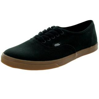 Vans Unisex Authentic Lo Pro Black Canvas Walking Shoe