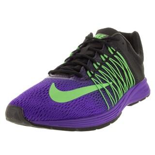 Nike Men's Air Zoom Streak 5 Fierce Purple, Green, and Black Mesh Running Shoe