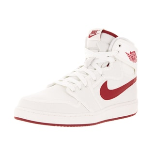 Nike Jordan Men's Air Jordan 1 KO High OG Sail and Varsity Red Textile Basketball Shoes
