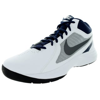 Nike Men's The Overplay VIII White/Dark Grey/Mid Navy Synthetic Leather Basketball Shoe