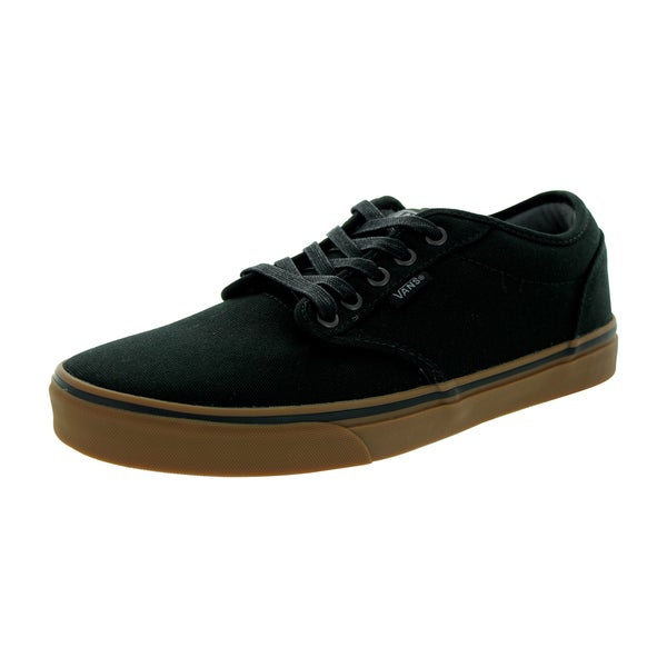 8caf5044f3 Shop Vans Men s Atwood Black Gum 12-ounce Canvas Skate Shoe - Free ...