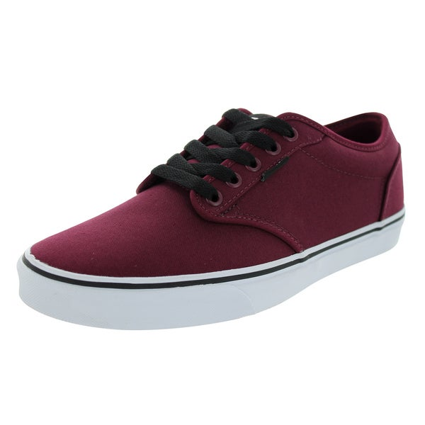 5e79e4fb9d Shop Vans Men s Atwood Maroon Canvas Skate Shoes - Free Shipping ...