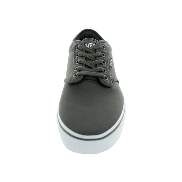 Shop Vans Men's Atwood PewterWhite Canvas Skate Shoe Free