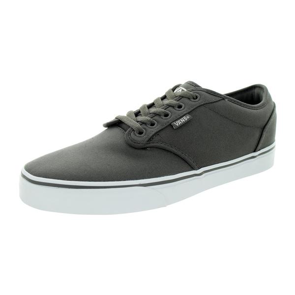 ee47062d0e7894 Shop Vans Men s Atwood Pewter White Canvas Skate Shoe - Free ...