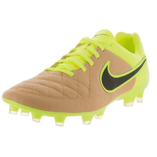 Nike Men's Tiempo Legacy FG Yellow/Tan Leather/Synthetic Soccer Cleat