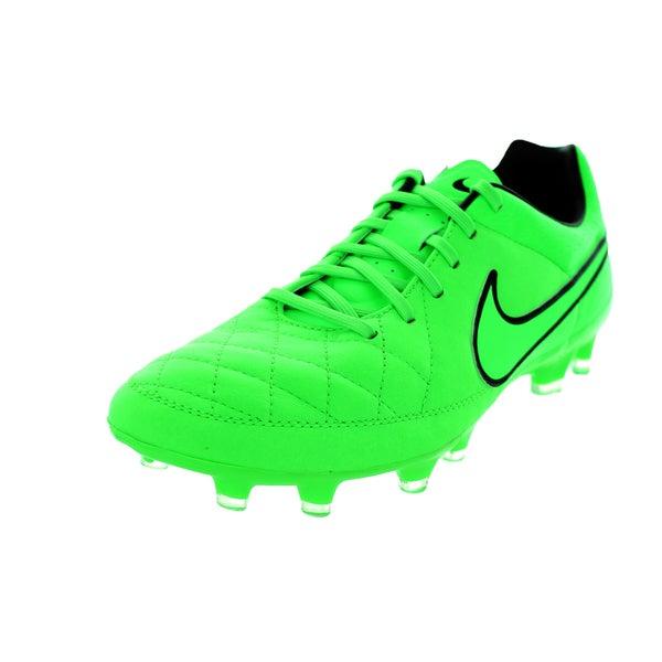 84a4271c410 Shop Nike Men s Tiempo Legacy FG Green Strike Black Soccer Cleats ...
