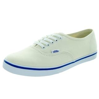 Vans Unisex Authentic Lo Pro White Canvas Walking Shoes