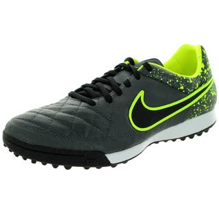 18141a2b5ea6 Nike Men s Tiempo Legacy TF Anthracite Black Volt Synthetic Leather Turf  Soccer Shoe