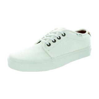 Vans Unisex 159 Vulcanized (T&L) White Canvas Skate Shoes