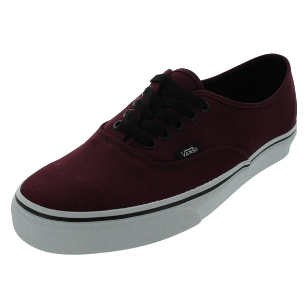 Shop Vans Port Royale Black Canvas Authentic Skate Shoes - Free ... de7ea117f