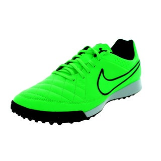 Nike Men's Tiempo Genio Leather TF Green Strike/Black Synthetic Turf Soccer Shoe