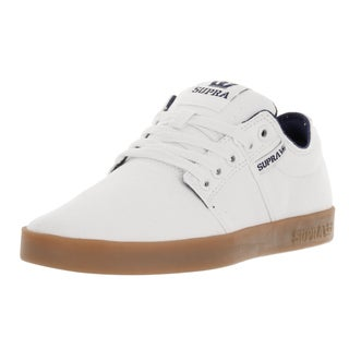 Supra Men's Stacks II Off-white Textile Skate Shoes