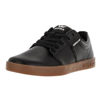 Supra Men's Stacks Black Leather Skate Shoes