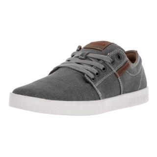 Supra Men's Stacks Grey/Spice/White Canvas Skate Shoe