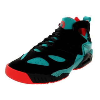 Nike Men's Air Tech Challenge Black/Turbo Green/Light Crimson Leather and Synthetic Tennis Shoe