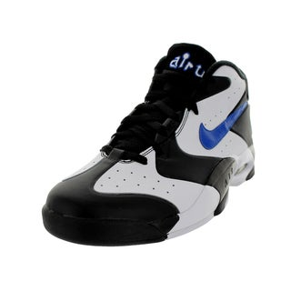 Nike Men's Air Up '14 Black/White Leather and Synthetic Basketball Shoes