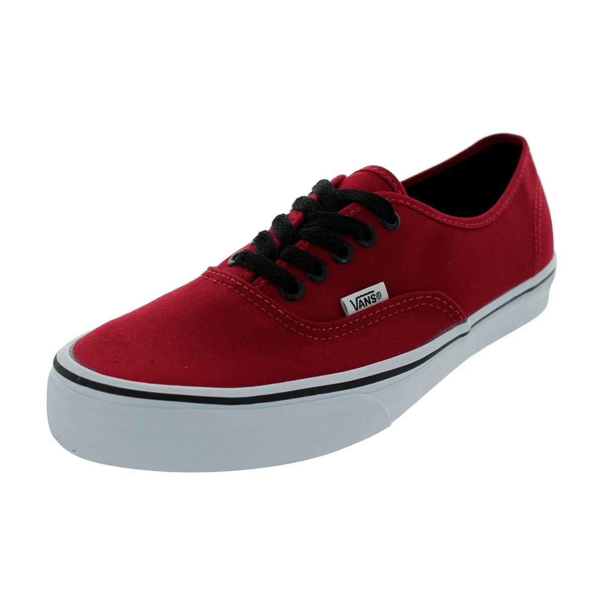 Vans Authentic Chili Pepper/Black Canvas Skate Shoes (6.5...
