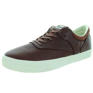 Supra Men's Phoenix Chocolate/Off-white Leather Skate Shoe