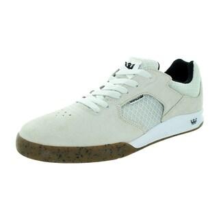 Supra Men's Avex White/Gum Suede Skate Shoe