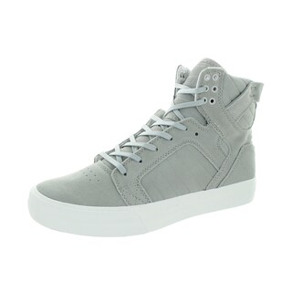 Supra Men's Skytop HF Light Grey/Off White Suede Skate Shoes