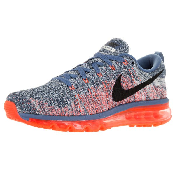 Muscular Puro Marinero  Shop Nike Men's Flyknit Air Max Red Mesh Running Shoes - Overstock -  12115521
