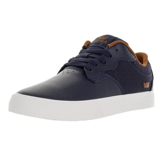Supra Men's Axle Blue Leather Skate Shoes