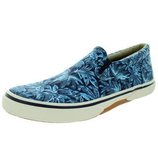 Sperry Top-Sider Men's Halyard Twin Gore Blue Palm Casual Shoes