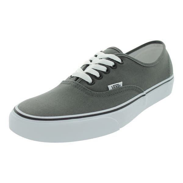 laest technology Turnschuhe für billige Einzelhandelspreise Shop Vans Men's Authentic Pewter/Black Canvas Skate Shoes ...