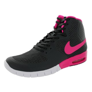 Nike Men's Paul Rodriguez 7 Hyperfuse Max Gray and Pink Foil Synthetic and Mesh Basketball Shoe