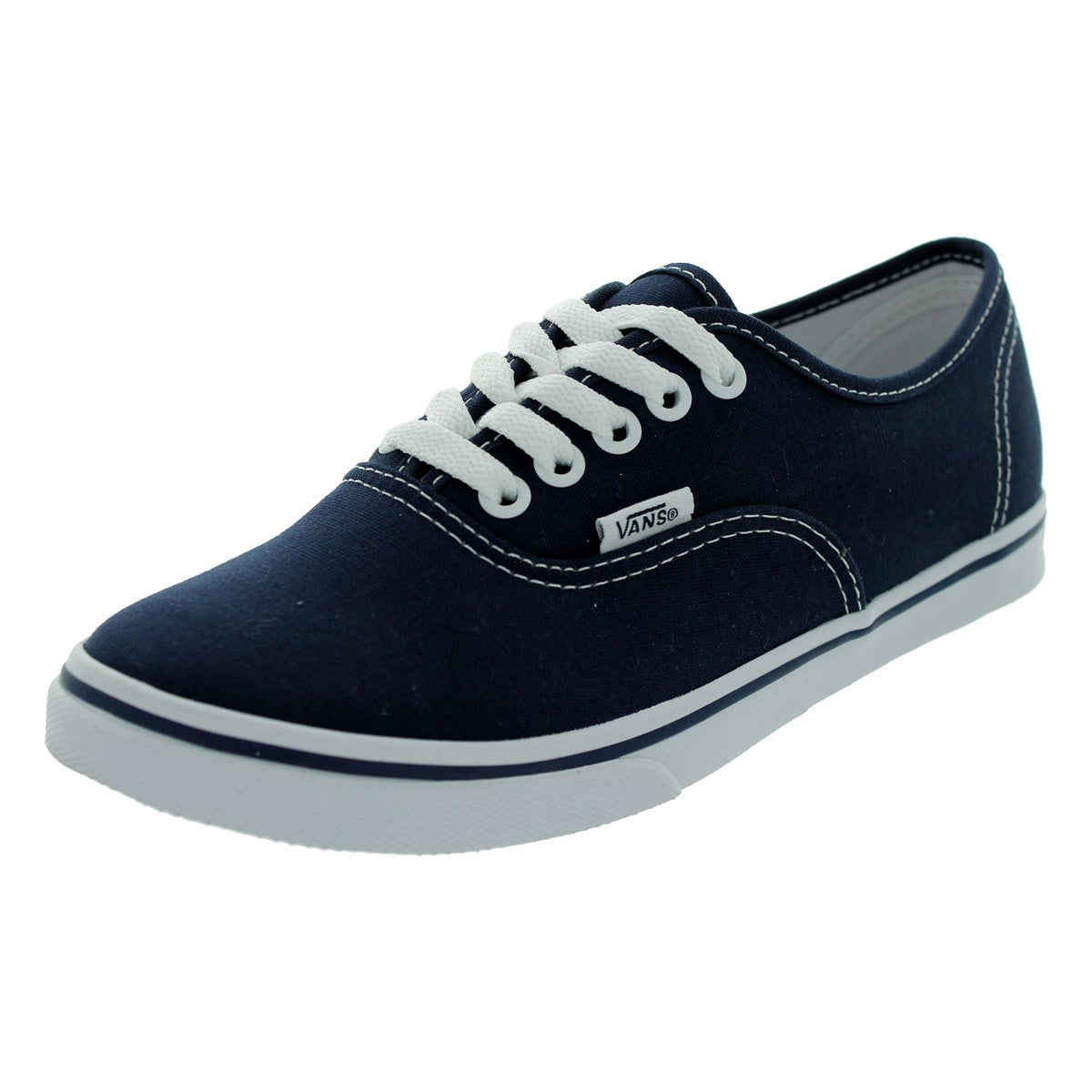 Vans Men's Authentic Lo Pro Navy/True White Canvas Skate ...