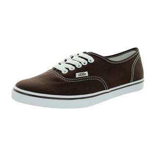 Vans Men's Authentic Lo Pro Espresso/True White Canvas Casual Shoes