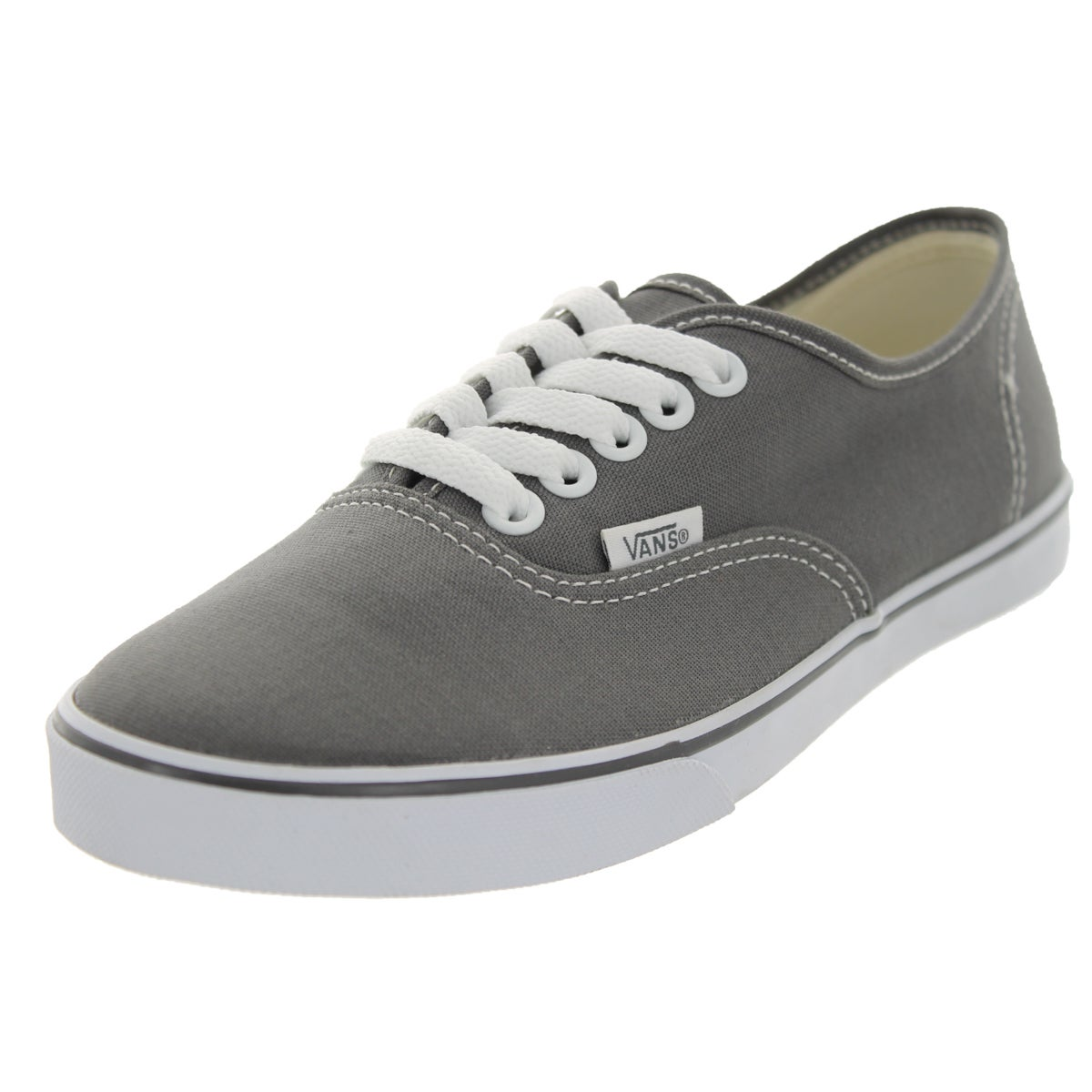 Vans Authentic Lo Pro Pewter/True White Canvas Casual Sho...