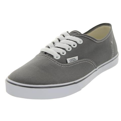 5329c4779ee874 Vans Authentic Lo Pro Pewter True White Canvas Casual Shoes
