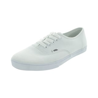 Vans Men's Authentic Lo Pro True White Canvas Skate Shoes