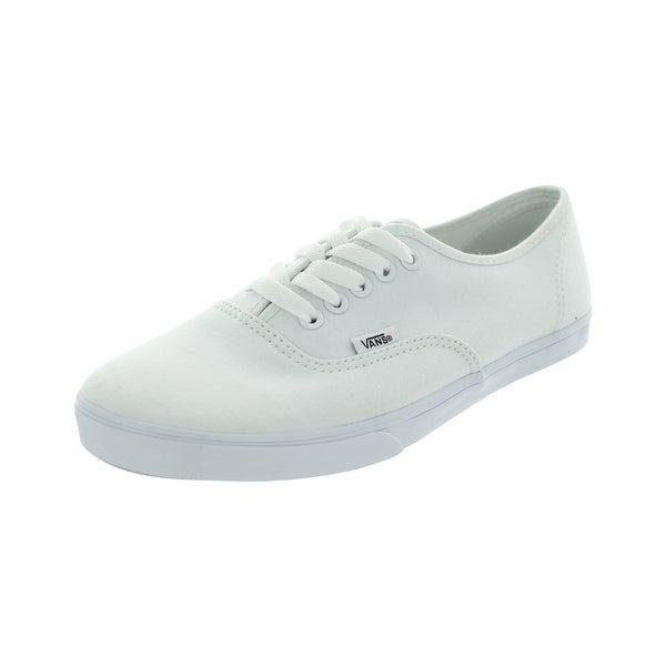 caa1e3f818 Shop Vans Men s Authentic Lo Pro True White Canvas Skate Shoes ...