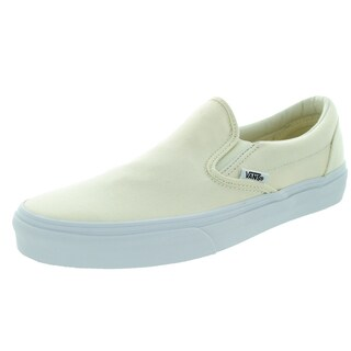 Vans Unisex Classic Slip-On White Canvas Skate Shoes