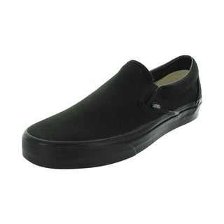 Vans Men's Black Canvas Classic Slip-on Skate Shoes